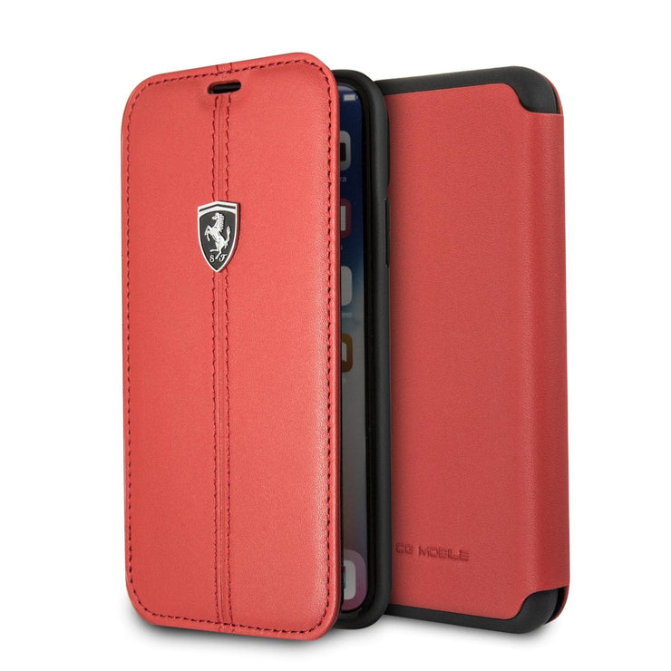 Ferrari Real Leather with Vertical Stripe Wallet