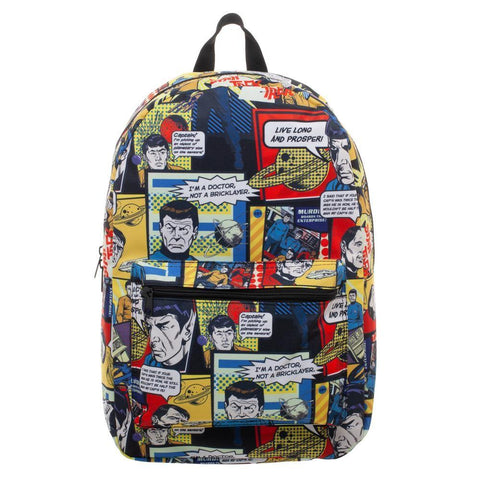 Star Trek Comic Print Back Pack