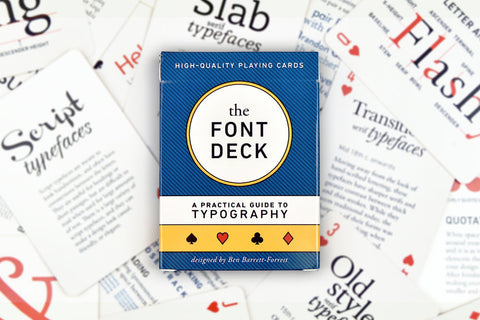 The Font Deck - Playing Cards