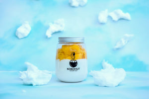 Coconut Pudding with Mango