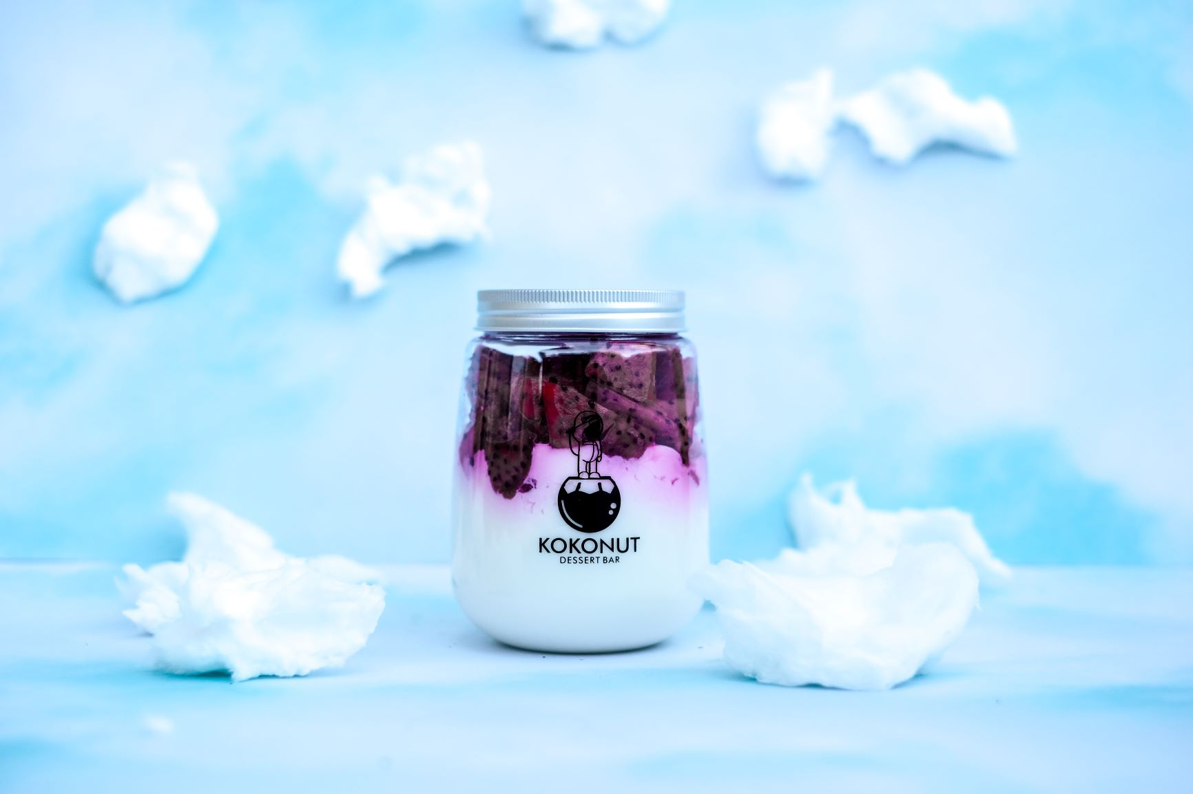 Coconut Pudding with Red Dragonfruit