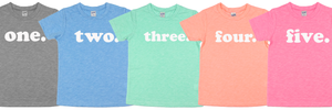 Birthday Shirt, Bright Spring Colors, simple modern design