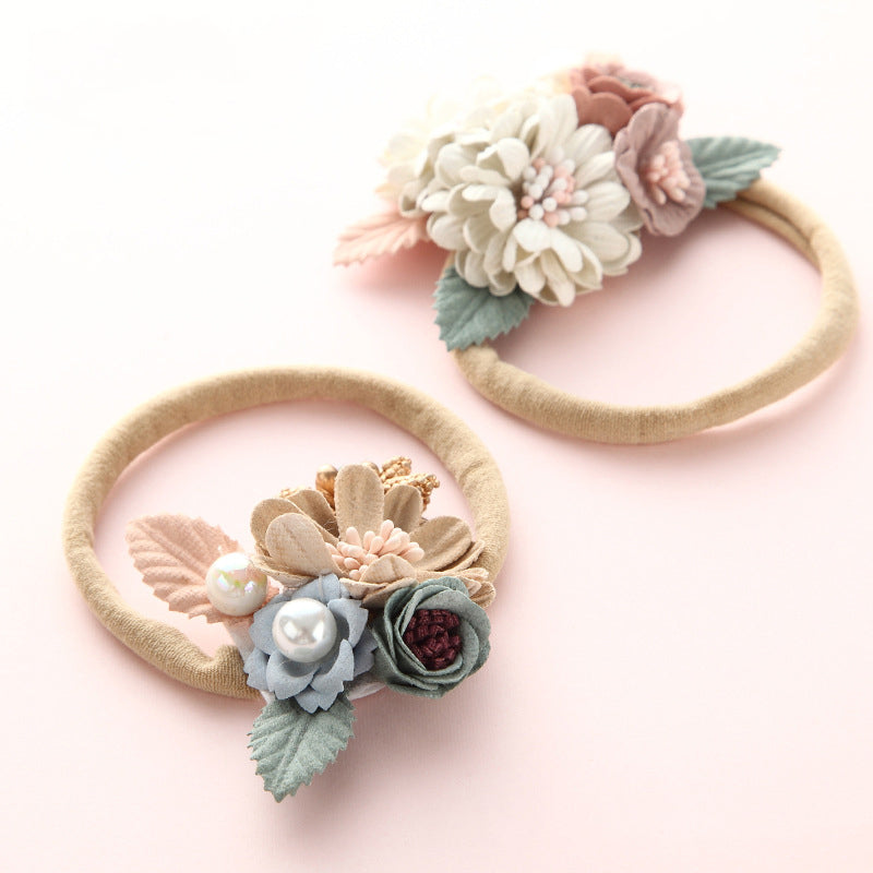 Floral Headband, Infant/ Toddler Woodland Style