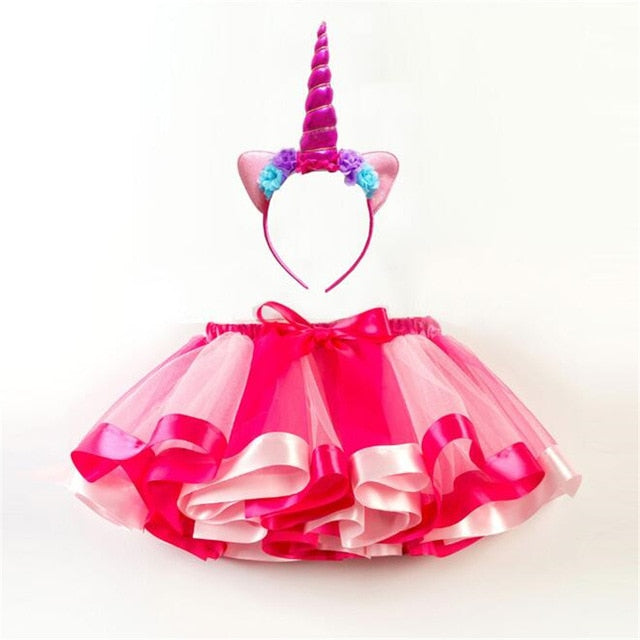 Rainbow Unicorn Tutu and Headband