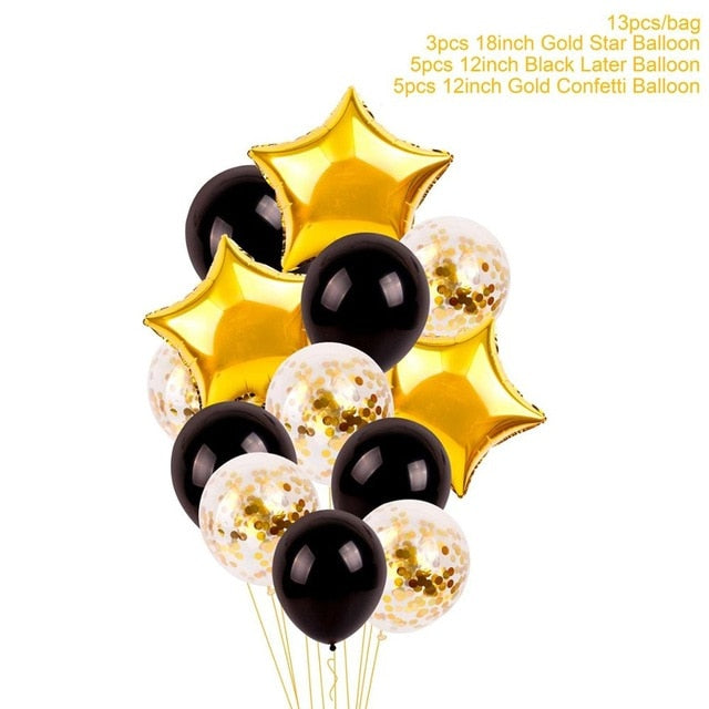 Black and Gold Birthday Party Decor - Customize for any age