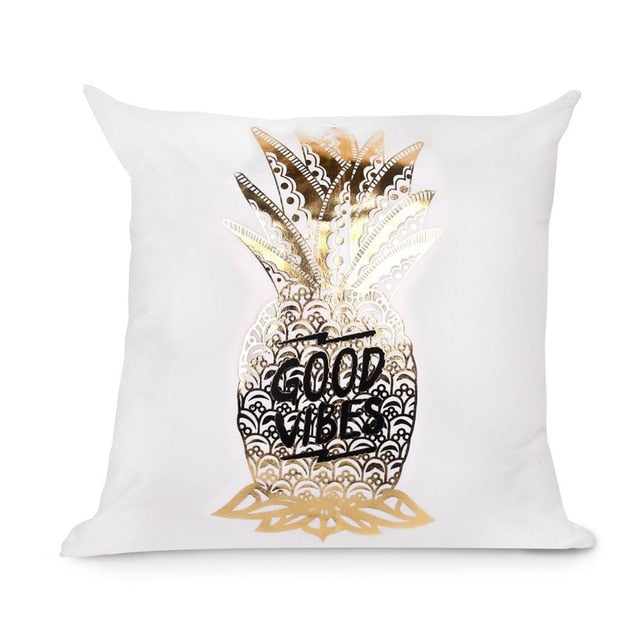 Gold Foil Cushion Cover, Gold Home Decor, Gold Throw Pillow