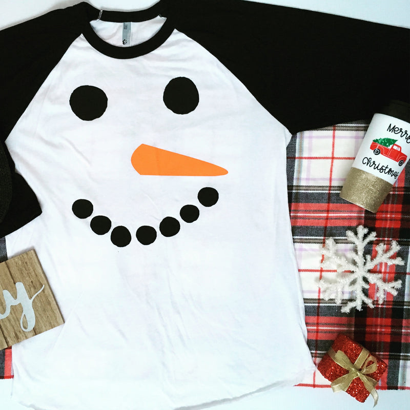 682079a7 Adult Snowman Shirt, Kids Christmas Shirt, Matching Family Shirts, Snowman  Shirt