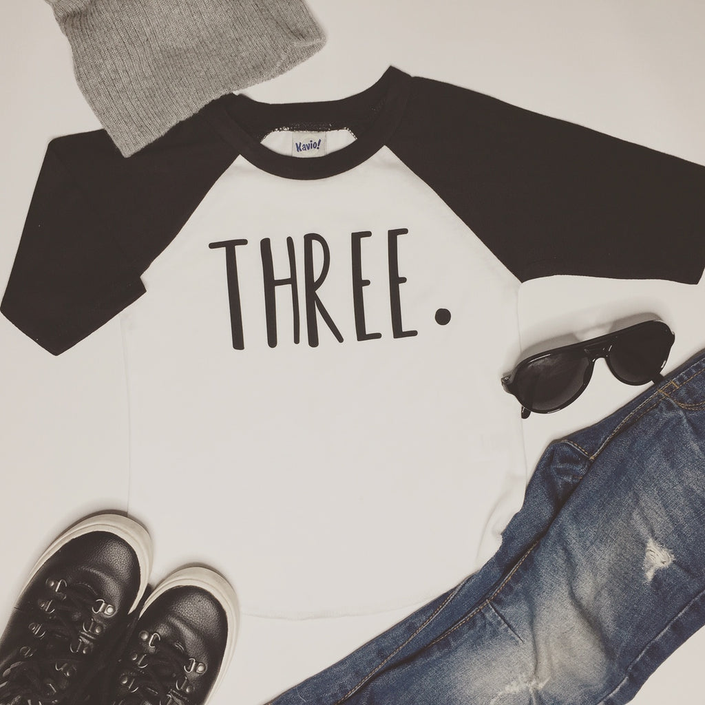 3rd Birthday Shirt, Third Birthday Raglan Shirt, Three Shirt, Personalized Anyway