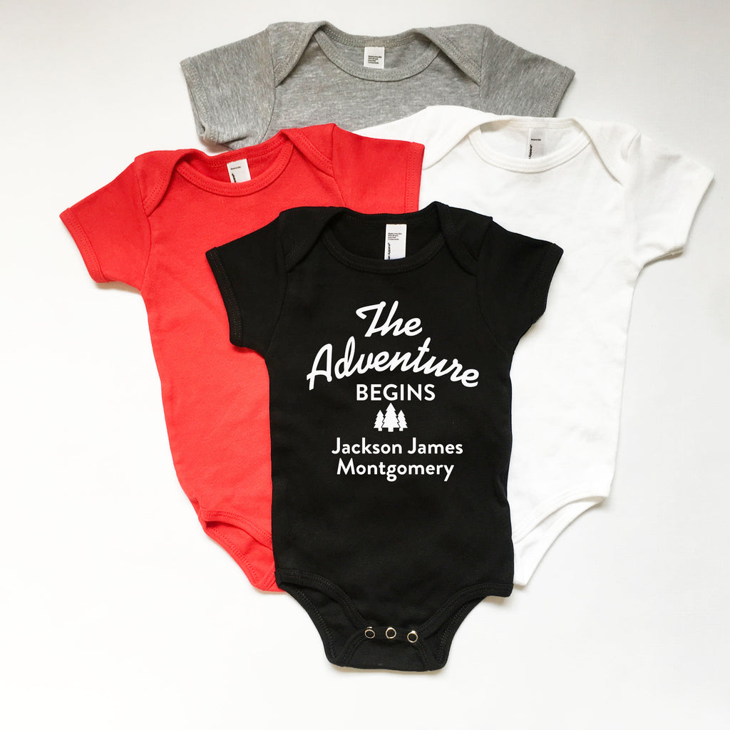 Baby Announcement Bodysuit, Baby Name Announcement, Baby Introduction Onesie, New Baby Gift
