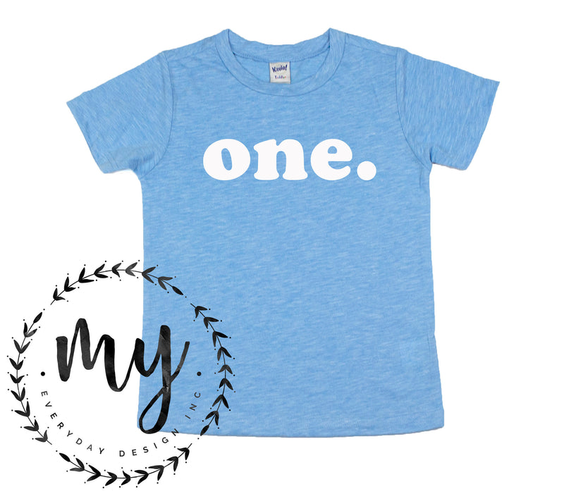 kids birthday shirt, modern simple style, sky blue tshirt, first birthday shirt