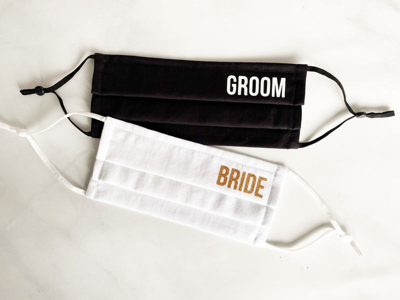 Bride And Groom Face Masks