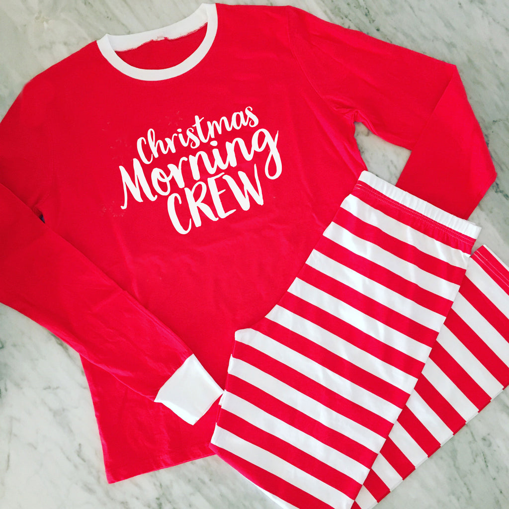 Christmas Morning Crew Family Holiday Pyjamas - Adults