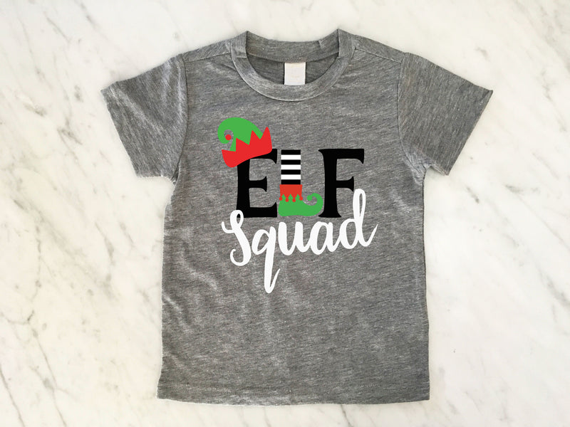 f0015b0a Elf Squad, Kids Christmas Shirt, Matching Family Christmas Shirts, Family  Elf Squad Shirt