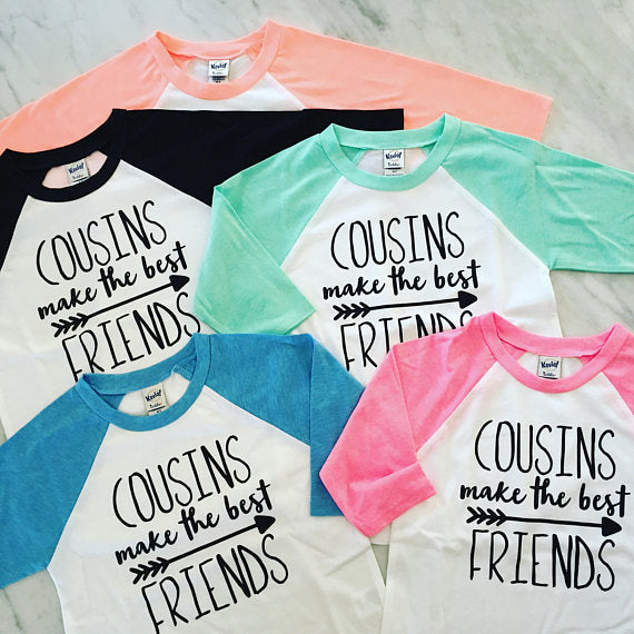 Cousins Make The Best Friends, Cousin Shirts, Big Cousin Shirt, Family Reunion Shirt - GLITTER