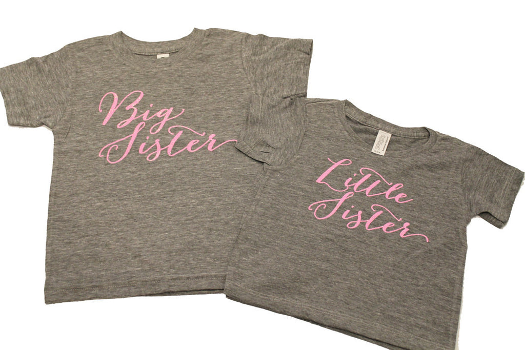 Big sister shirt little sister shirt set - infant and kids sizes