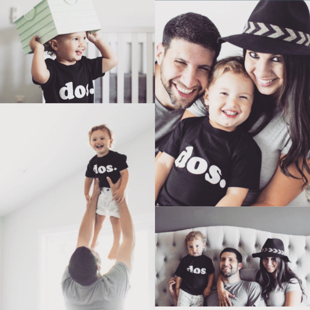 Dos Birthday Shirt, Kids Birthday Shirt, Second Birthday Shirt, Monochrome Birthday
