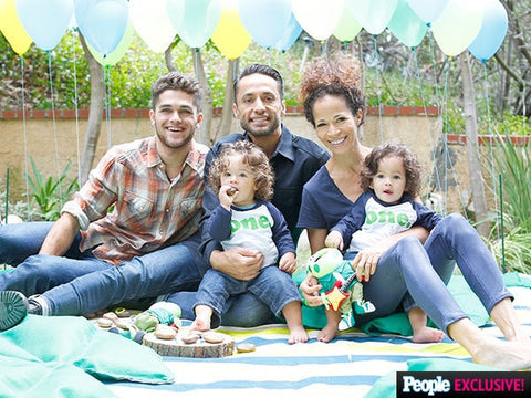 boys first birthday shirt, featured on PEOPLE magazine online for actress Sherri Saum twin boys birthday party, baseball raglan long sleeve