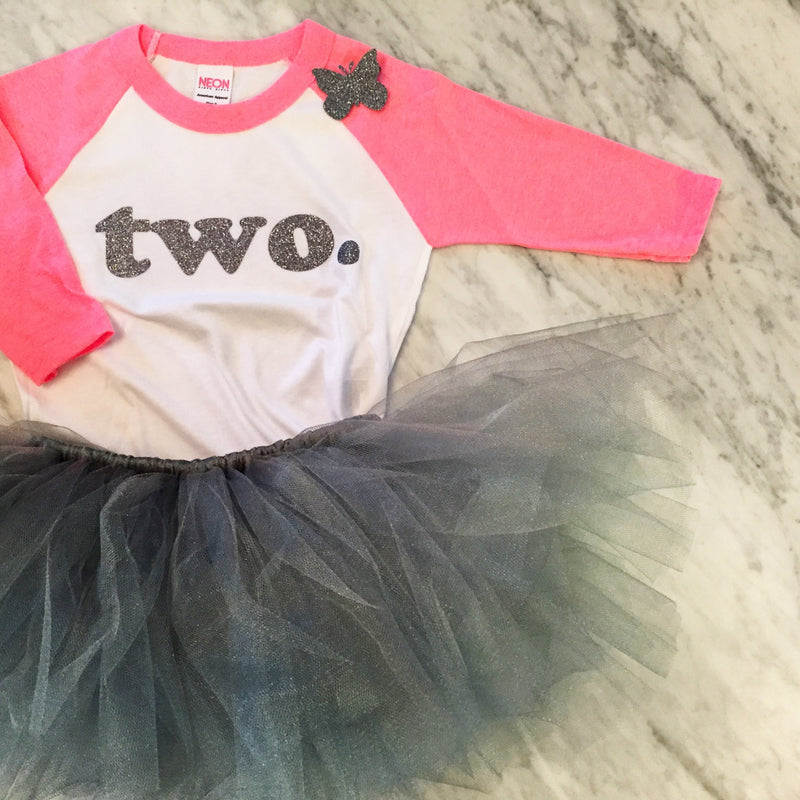 Girls Second Birthday Outfit, Silver Baby Girl Outfit, 2nd Birthday Outfit