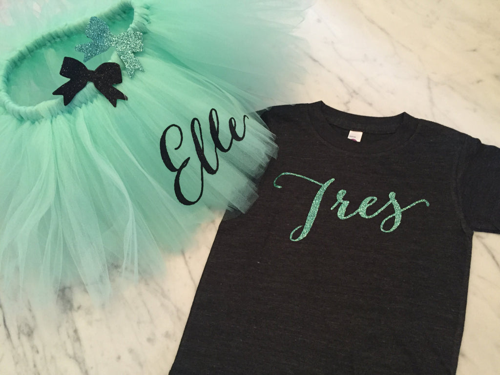 third birthday outfit, personalized tutu, glitter bow hair clip, baby girl outfit, cake smash outfit