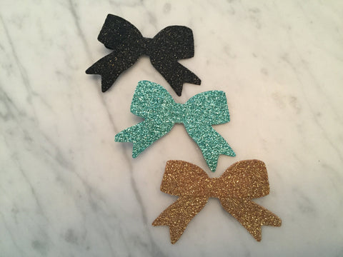 Red Glitter Bow Hair Clip, Christmas Hair Clip, Glitter Hair Clip, Set of 3 Glitter Bow Hair Clips