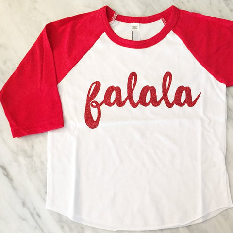 kids christmas shirt, mommy and me matching christmas shirts, falalala, holiday cheer, red glitter festive holiday shirt