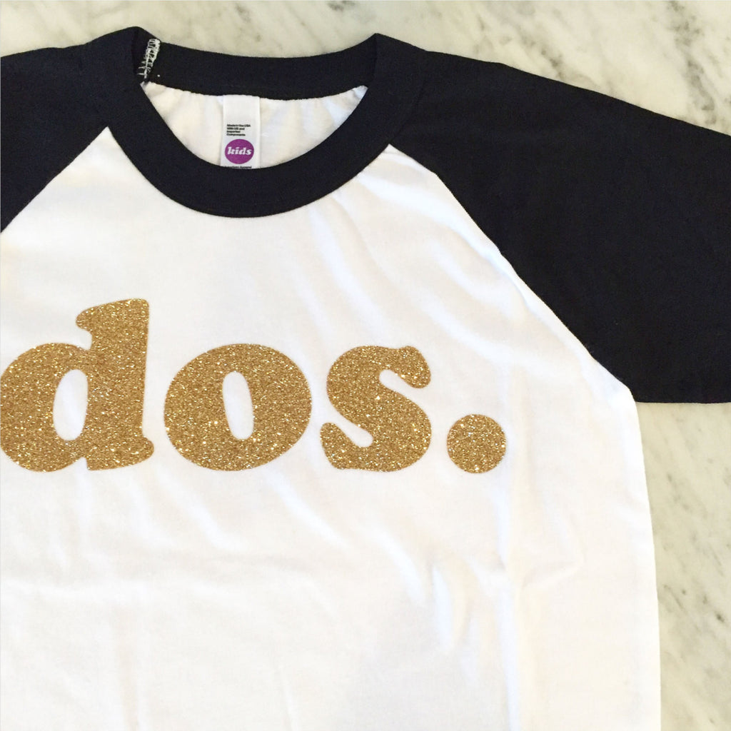 Gold Glitter Second Birthday, 2nd Birthday Shirt, dos