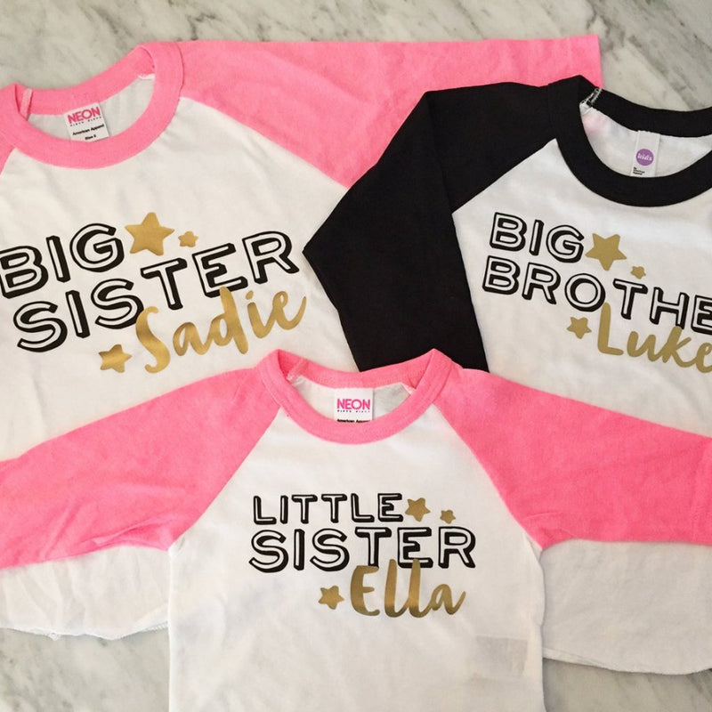 ab4559e92 Big Brother Big Sister Little Sister Shirts - kids and infants sizes - Set  of 3