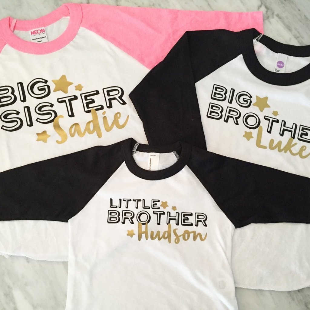 Big brother shirt, big sister shirt, little brother shirts - kids and infants sizes - 3 shirts