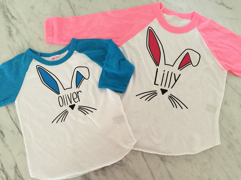 Kids Easter Bunny Shirt - Personalized