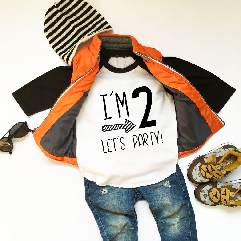 Im Two Lets Party - Boys Second Birthday Shirt - 2nd Birthday Shirt Boy - 2nd Birthday Shirt