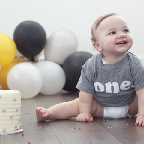 First Birthday Shirt, One Shirt, Gender Neutral Birthday Shirt, ANY number, MANY colors, MANY sizes