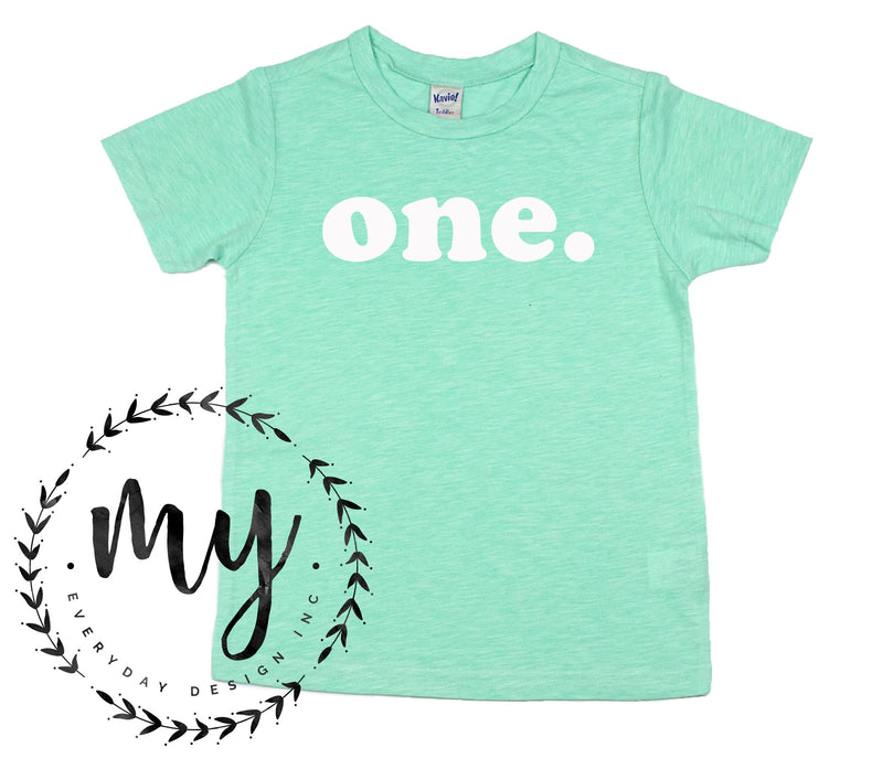 kids birthday shirt, modern simple style, mint green tshirt, first birthday shirt