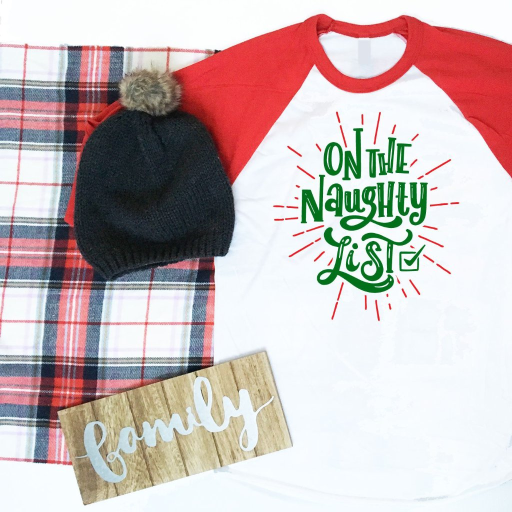 On The Naughty List Shirt, On The Nice List Shirt, Ladies Christmas Shirt, Mens Christmas Shirt