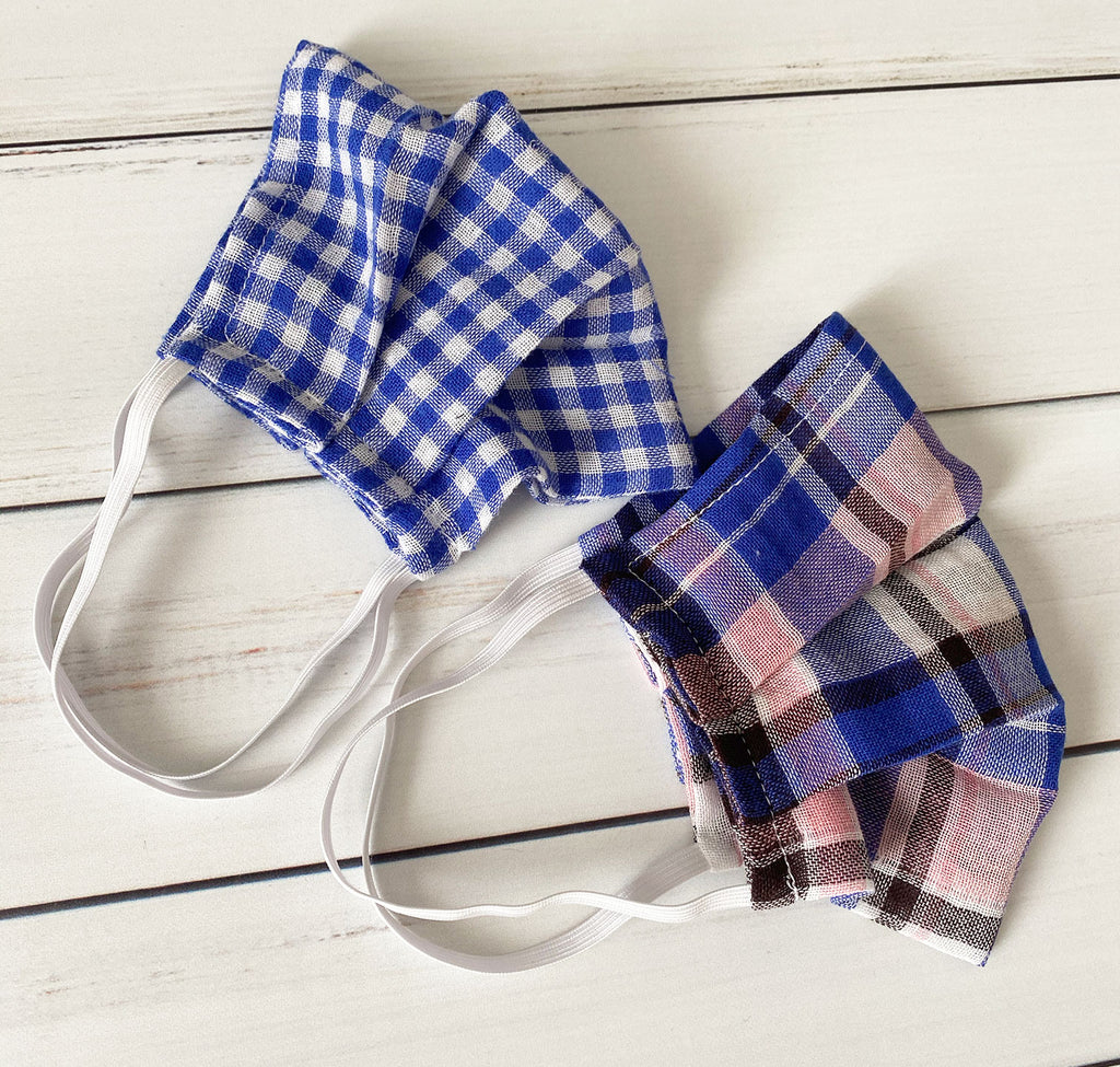 Fall Plaid Face Mask - Lightweight and Breathable