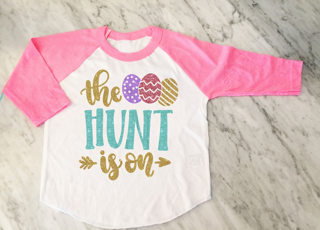 Girls Easter Egg Hunt Shirt, Girls easter shirt