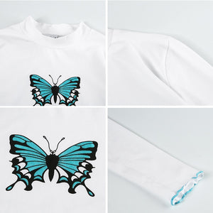 Turtleneck Butterfly Long Sleeve
