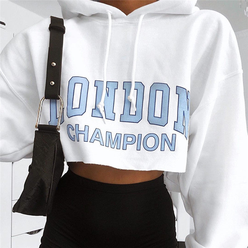 London Champion Cropped Hoodie