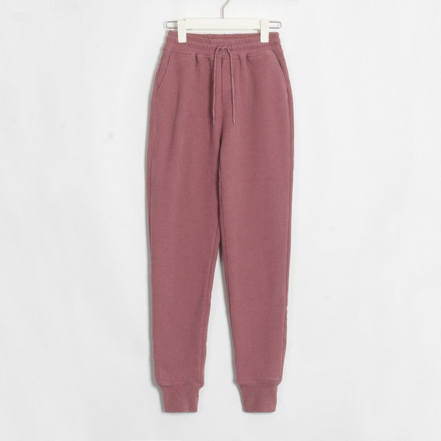 Womens Casual Velvet Pants