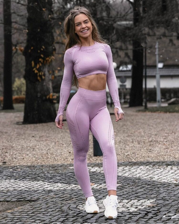 Long Sleeve Fitness Set