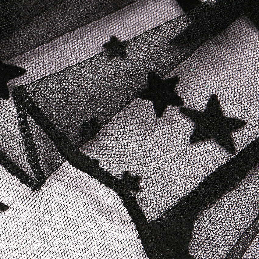 Star Mesh Crop Short