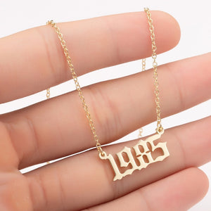 Personalized Year Necklace