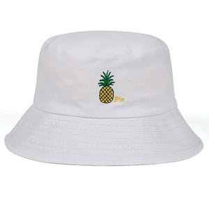 Pineapple Pin Embroidery Bucket Hat