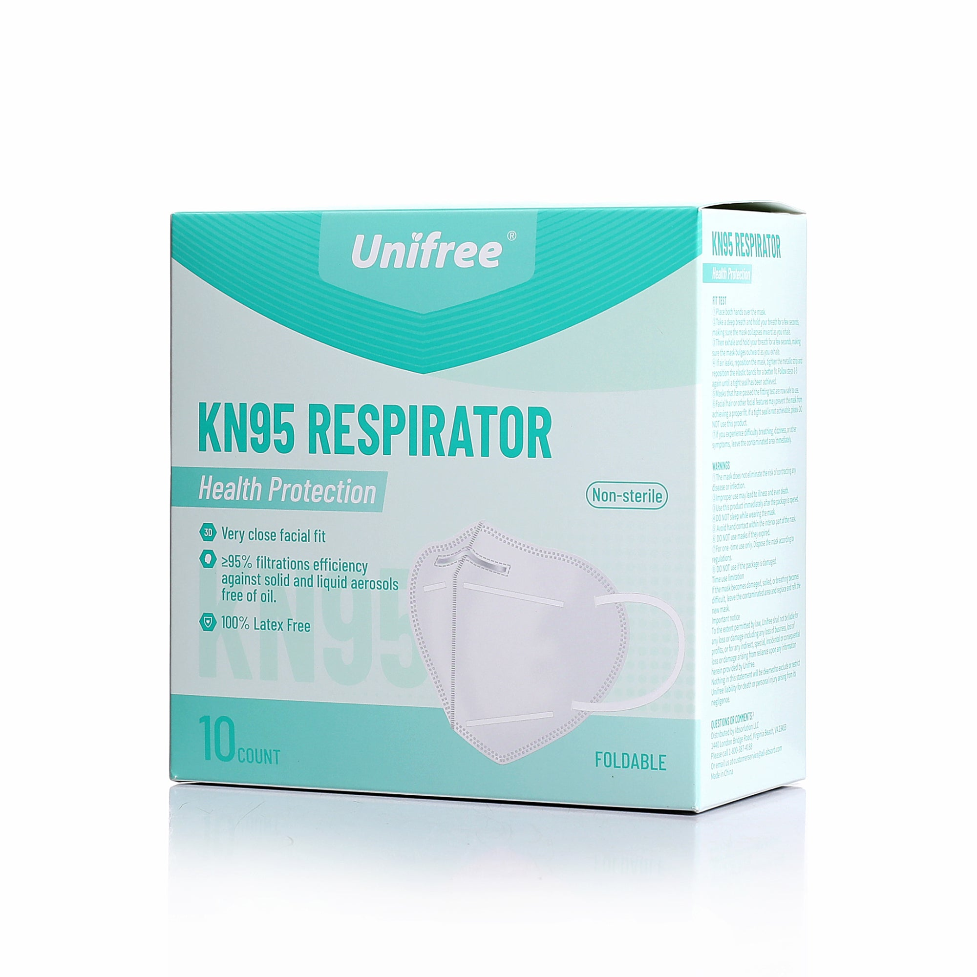 Unifree® KN95 Respirator (10 Count) - Trusted Brand - GETXGO