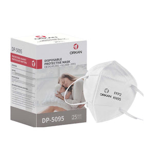 ORKAN KN95 Respirator Mask - 1 Carton - (12 Boxes/300 Masks)