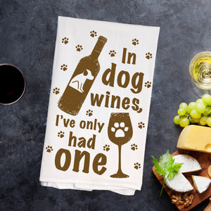'In Dog Wines' Kitchen Towel