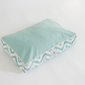 Turquoise Chevron Pet Cushion