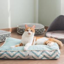 Load image into Gallery viewer, Turquoise Chevron Pet Cushion
