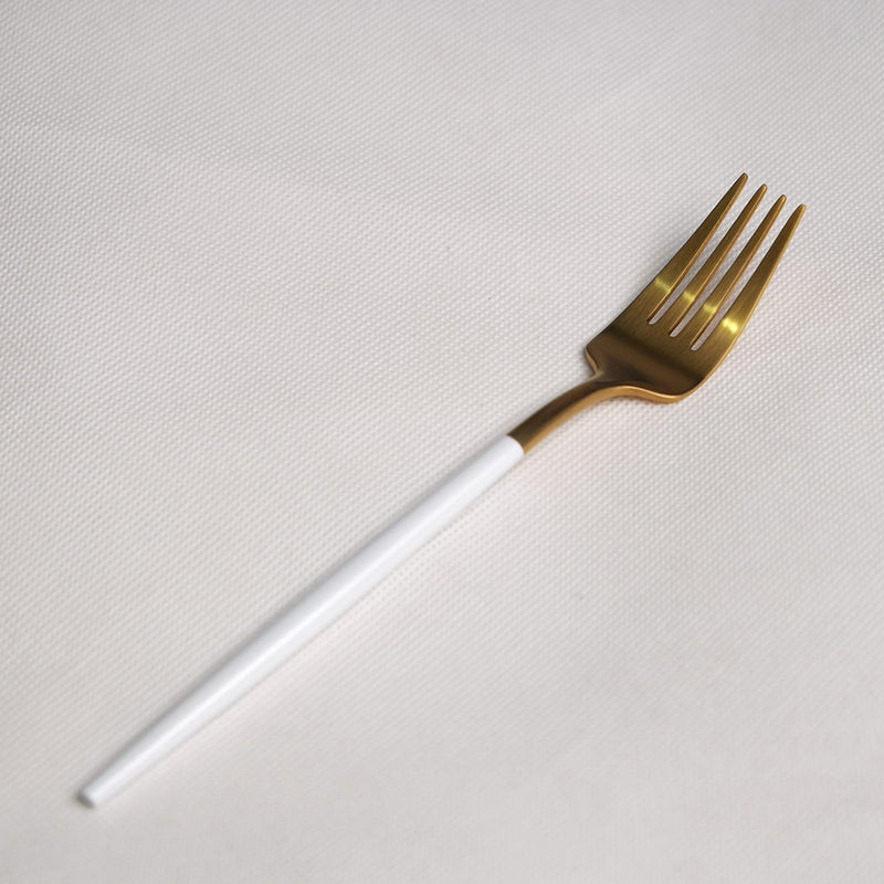 Korean Cutlery Gold White | Big Fork