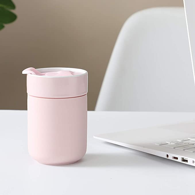 4LessWaste Ceramic Cup 10oz | Carnation