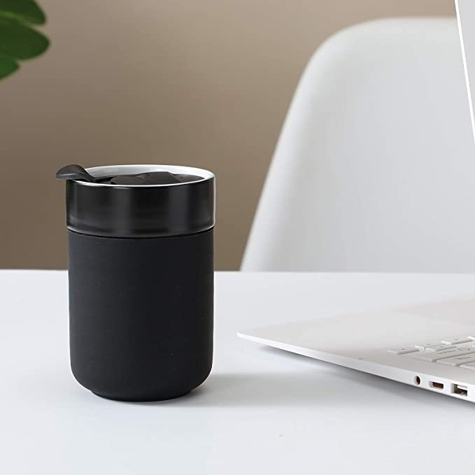 4LessWaste Ceramic Cup 10oz | Black